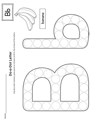 Finding and Connecting Letters: Letter B Worksheet