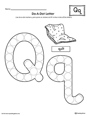 Letter Q Formation Writing Mat Printable