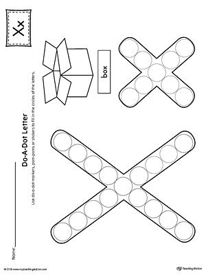 Alphabet Letter X Formation Card Printable