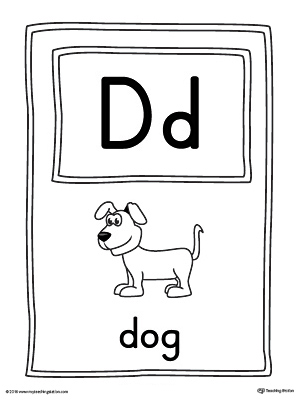 Letter D Tracing and Writing Printable Worksheet