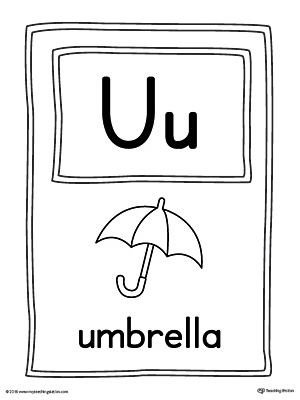 Letter U Uppercase and Lowercase Matching Worksheet