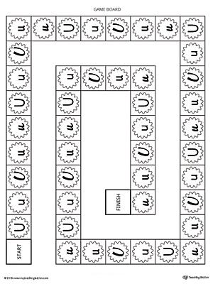 Short Letter U Beginning Sound Picture Match Worksheet