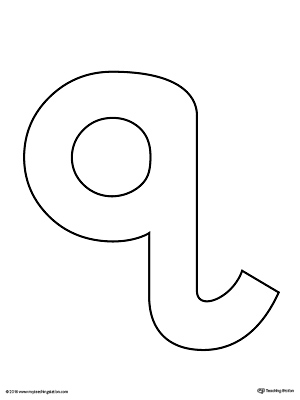 Lowercase Letter Q Color-by-Letter Worksheet