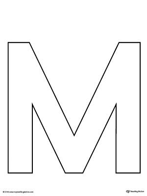 Lowercase Letter M Color-by-Letter Worksheet