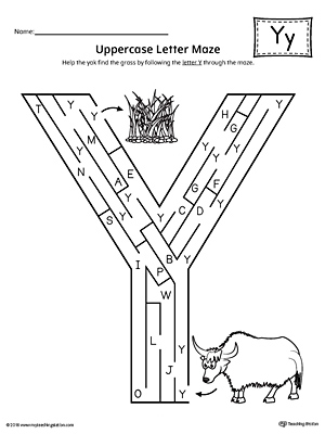 Say and Trace: Letter Y Beginning Sound Words Worksheet
