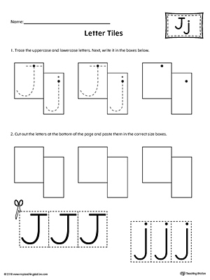 How to Write Lowercase Letter J Printable Poster
