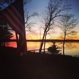 Lake House Sunset, Sandstone, MN USA