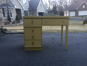 Yellow desk before transformation