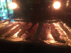 Bacon Cooking in the Oven