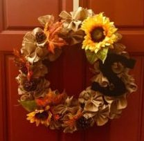 DIY Fall Door Wreath
