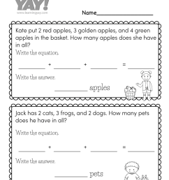 Addition Color by Number Worksheet for 1st Grade (Free Printable) [ 1035 x 800 Pixel ]