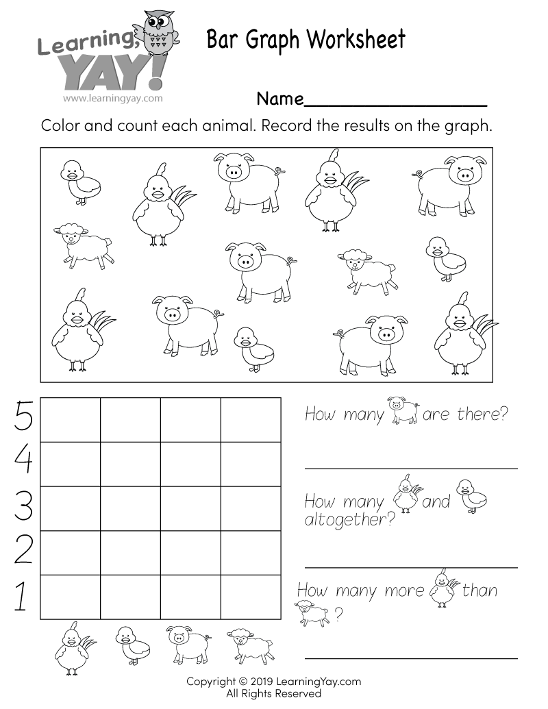 hight resolution of Bar Graph Worksheet for 1st Grade (Free Printable)