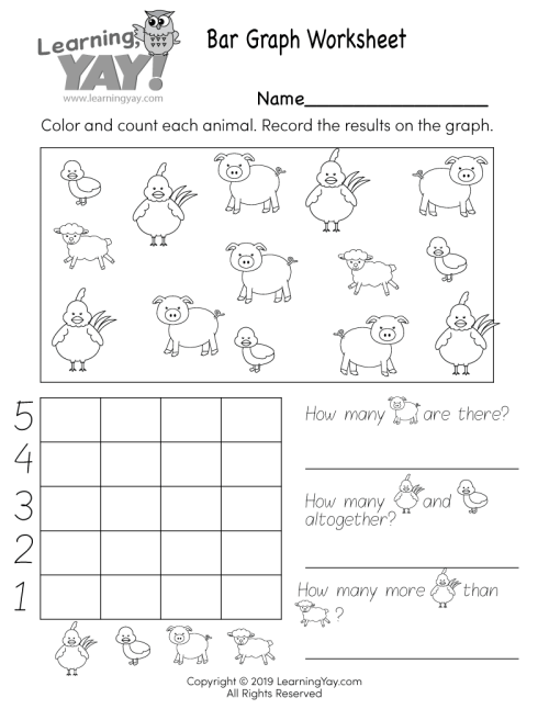 small resolution of Bar Graph Worksheet for 1st Grade (Free Printable)