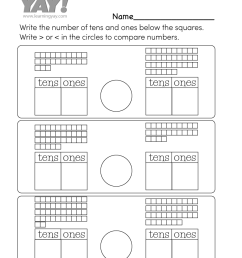 1st Grade Math Worksheets (Free Printables) [ 1035 x 800 Pixel ]