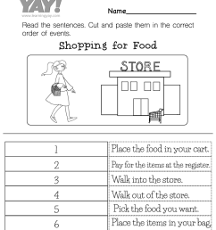 Sequencing Events Activity Worksheet for 1st Grade (Free Printable) [ 1035 x 800 Pixel ]