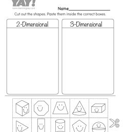 Sorting 2D and 3D Shapes Worksheet for 1st Grade (Free Printable) [ 1035 x 800 Pixel ]