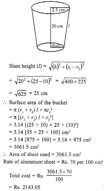 RD Sharma Class 10 Solutions Chapter 14 Surface Areas and VolumesEx 14.3 18