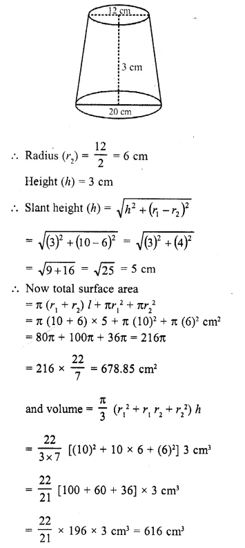 RD Sharma Class 10 Solutions Chapter 14 Surface Areas and VolumesEx 14.3 2