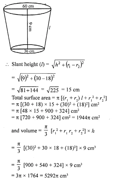 RD Sharma Class 10 Solutions Chapter 14 Surface Areas and VolumesEx 14.3 21