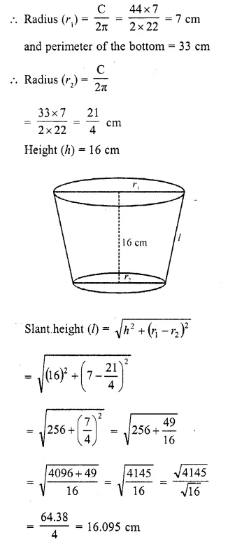 RD Sharma Class 10 Solutions Chapter 14 Surface Areas and VolumesEx 14.3 4