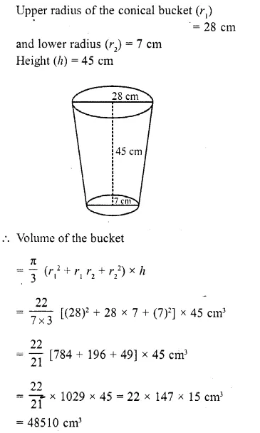 RD Sharma Class 10 Solutions Chapter 14 Surface Areas and VolumesEx 14.3 7