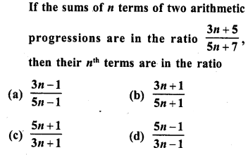 RD Sharma Class 10 Solutions Chapter 5 Arithmetic Progressions MCQS 33