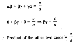 RS Aggarwal Class 10 Solutions Chapter 2 Polynomials MCQS 13