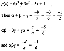 RS Aggarwal Class 10 Solutions Chapter 2 Polynomials Test Yourself 9