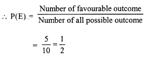 Selina Concise Mathematics Class 10 ICSE Solutions Chapter 25 Probability Ex 25A Q2.1