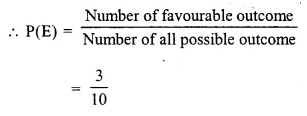 Selina Concise Mathematics Class 10 ICSE Solutions Chapter 25 Probability Ex 25A Q2.3