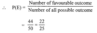 Selina Concise Mathematics Class 10 ICSE Solutions Chapter 25 Probability Ex 25C Q10.1