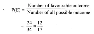 Selina Concise Mathematics Class 10 ICSE Solutions Chapter 25 Probability Ex 25C Q16.1