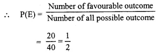 Selina Concise Mathematics Class 10 ICSE Solutions Chapter 25 Probability Ex 25C Q20.1