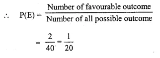 Selina Concise Mathematics Class 10 ICSE Solutions Chapter 25 Probability Ex 25C Q20.2