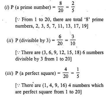 Selina Concise Mathematics Class 10 ICSE Solutions Chapter 25 Probability Ex 25C Q29.1