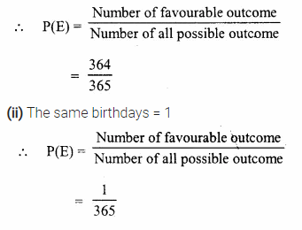 Selina Concise Mathematics Class 10 ICSE Solutions Chapter 25 Probability Ex 25C Q5.1