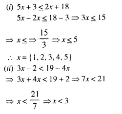 Selina Concise Mathematics Class 10 ICSE Solutions Chapter 4 Linear Inequations Ex 4A 3.1