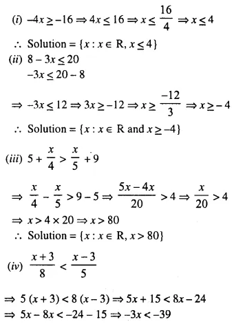 Selina Concise Mathematics Class 10 ICSE Solutions Chapter 4 Linear Inequations Ex 4A 7.2