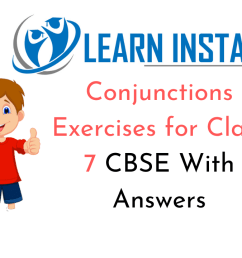 Conjunctions Exercises for Class 7 CBSE With Answers [ 720 x 1280 Pixel ]