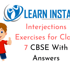 Interjections Exercises for Class 7 CBSE With Answers [ 720 x 1280 Pixel ]