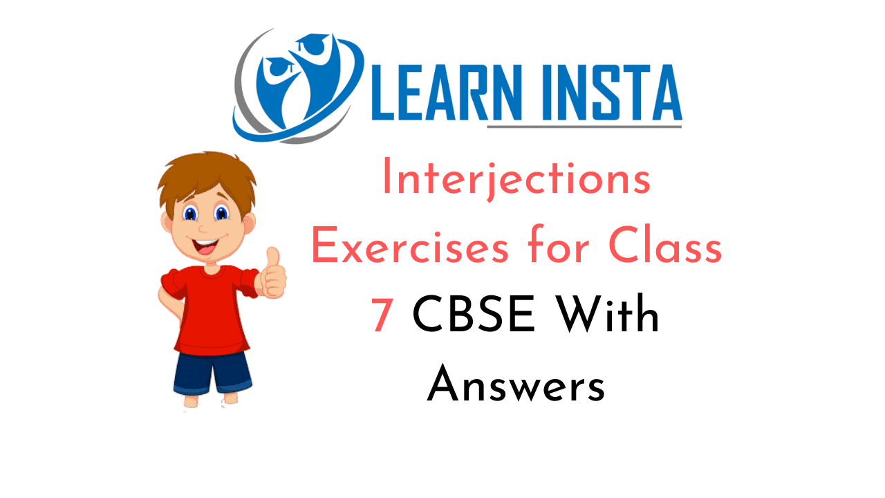 hight resolution of Interjections Exercises for Class 7 CBSE With Answers