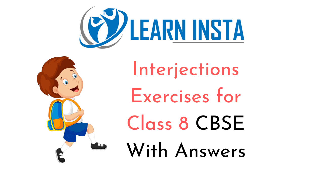 Interjections Exercises for Class 8