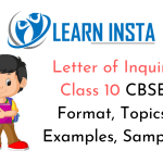 Letter Of Inquiry Class 10