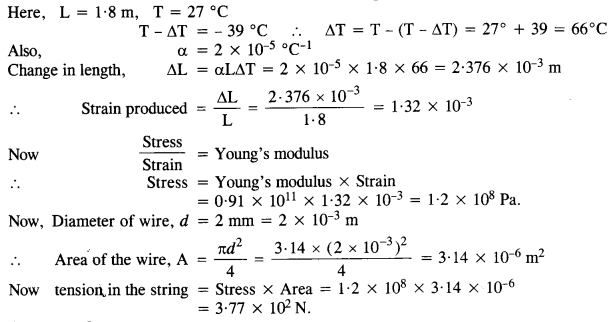 NCERT Solutions for Class 11 Physics Chapter 11 Thermal Properties of Matter 8