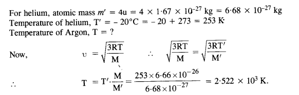 NCERT Solutions for Class 11 Physics Chapter 13 Kinetic Theory 10