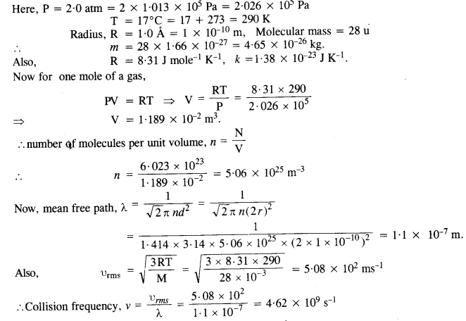 NCERT Solutions for Class 11 Physics Chapter 13 Kinetic Theory 11