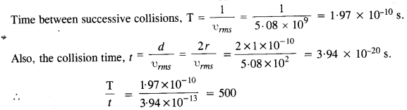 NCERT Solutions for Class 11 Physics Chapter 13 Kinetic Theory 12