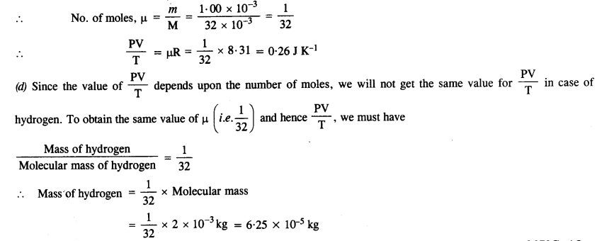 NCERT Solutions for Class 11 Physics Chapter 13 Kinetic Theory 4