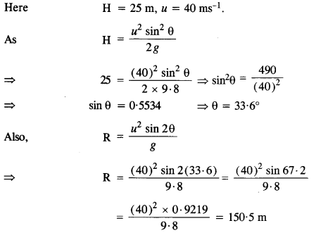 NCERT Solutions for Class 11 Physics Chapter 4 Motion in a Plane 24