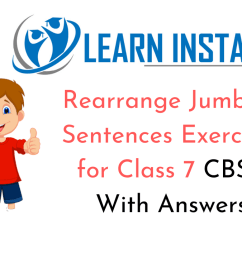 Rearrange Jumbled Sentences Exercises for Class 7 CBSE With Answers [ 720 x 1280 Pixel ]